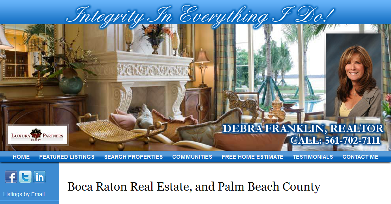 Boca Raton Real Estate Palm Beach County Florida Debra