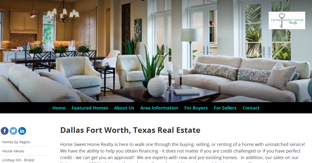 Dallas Fort Worth, Texas Real Estate - Home Sweet Home
