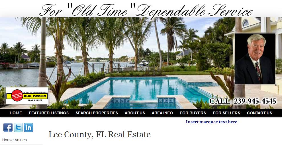 Lee County, FL Real Estate - Phil Deems Real Estate, Realtor